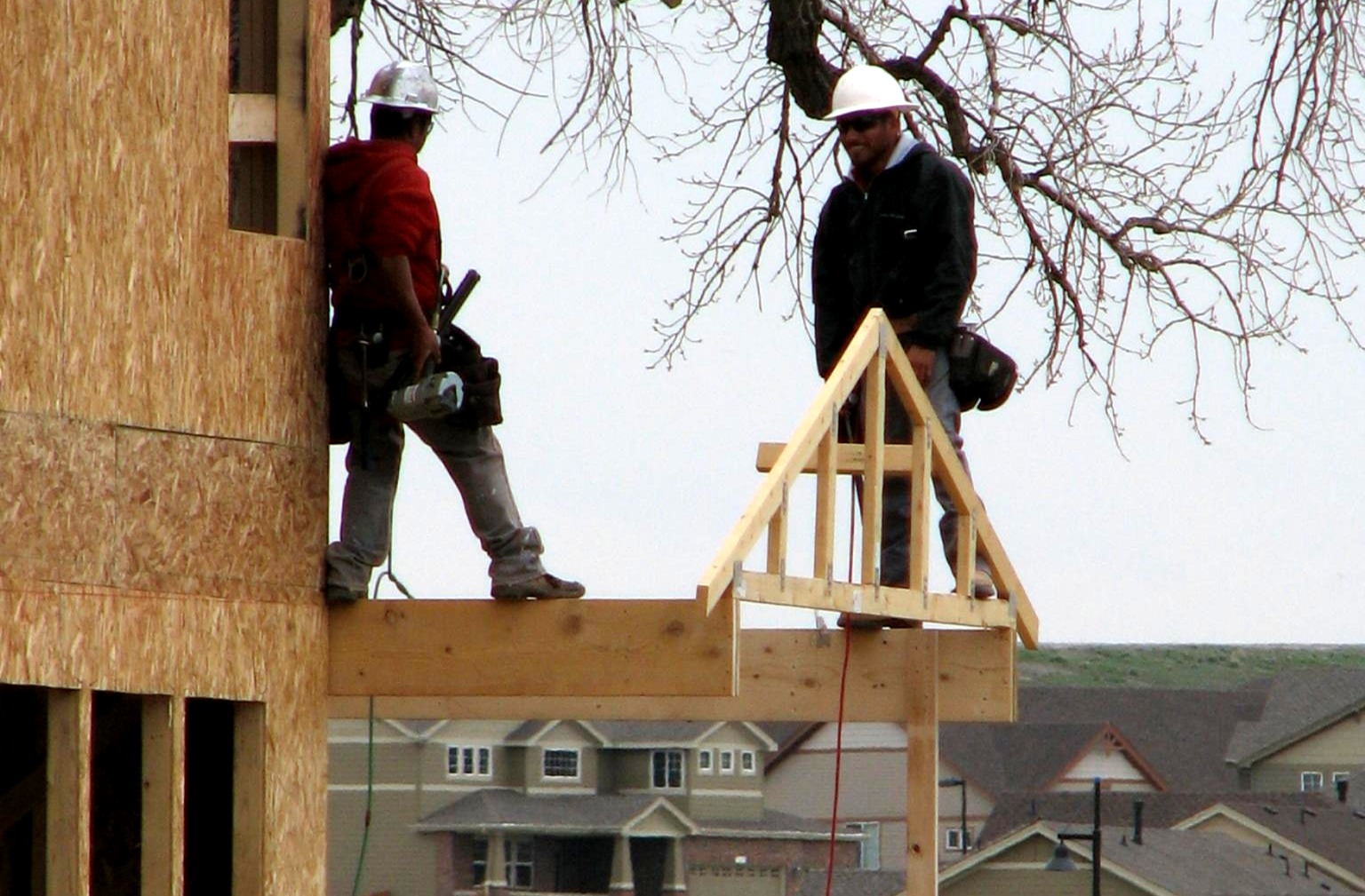 Two Construction Workers Making a Roof | Construction Safety Training in Erie, CO